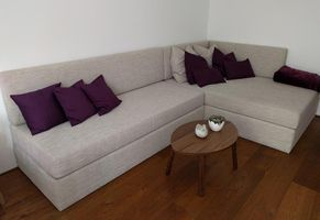 Gepolsterte Couch